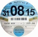 An image of a tax disc